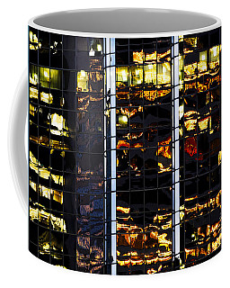 Coffee Mug featuring the photograph Building Reflecting Onto Windows Ccxxvi  by Amyn Nasser