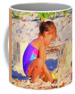 Building Sand Castles Coffee Mug