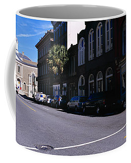 Buildings On Both Sides Of A Road Coffee Mug
