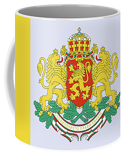 Coffee Mug featuring the drawing Bulgaria Coat Of Arms by Movie Poster Prints