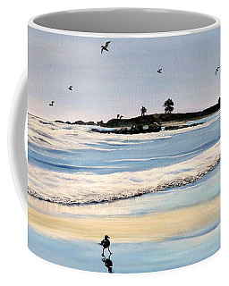 Bull Beach Coffee Mug