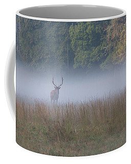 Bull Elk Disappearing In Fog - September 30 2016 Coffee Mug