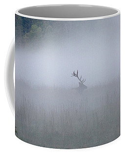 Bull Elk In Fog - September 30, 2016 Coffee Mug