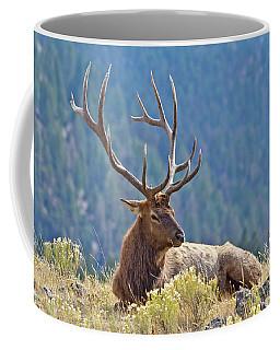Bull Elk Resting Coffee Mug