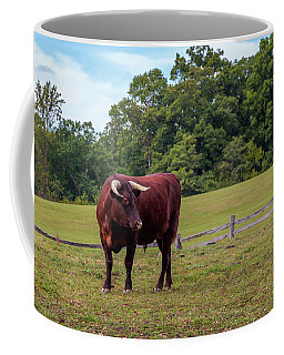 Bull In Field Coffee Mug