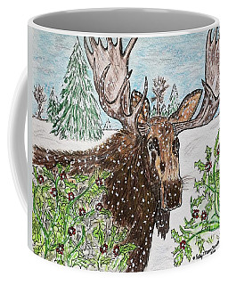 Bull Moose In The Wilderness Coffee Mug