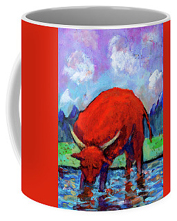 Bull On The River Coffee Mug by Maxim Komissarchik