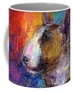 Bull Terrier Dog Painting Coffee Mug