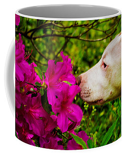 Bulldog Flowers Coffee Mug