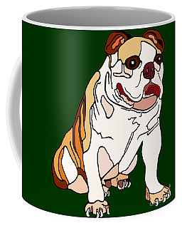 Bulldog Coffee Mug by Marian Cates