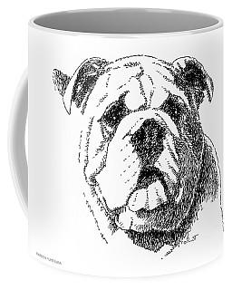 Bulldog-portrait-drawing Coffee Mug