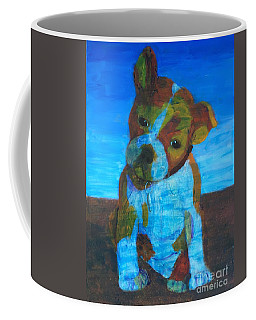 Coffee Mug featuring the painting Bulldog Puppy by Donald J Ryker III