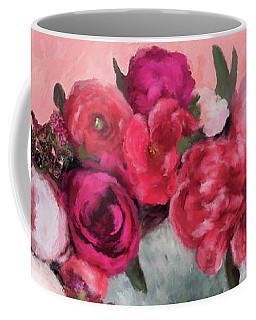 Bulldog With Flowers Coffee Mug