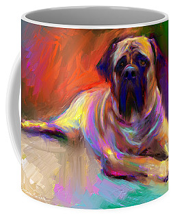 Bullmastiff Dog Painting Coffee Mug