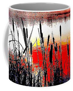 Bullrushes Against The Sunset Coffee Mug
