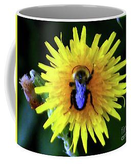 Coffee Mug featuring the photograph Bullseye Bumblebee Dandelion by Rockin Docks Deluxephotos