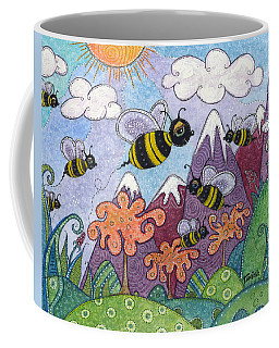 Bumble Bee Buzz Coffee Mug by Tanielle Childers
