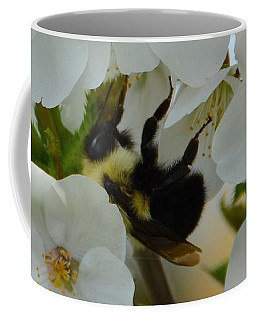 Bumble Bee In Hiding Coffee Mug