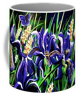 Bumble Bee Iris Coffee Mug by Jennifer Lake