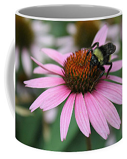 Bumble Bee On Pink Coneflower Coffee Mug