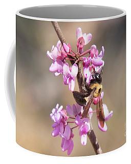 Bumble Bee On Red Bud Coffee Mug