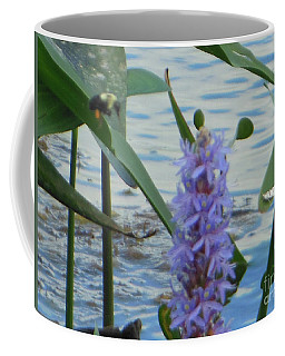 Coffee Mug featuring the photograph Bumblebee Pickerelweed Moth by Rockin Docks Deluxephotos