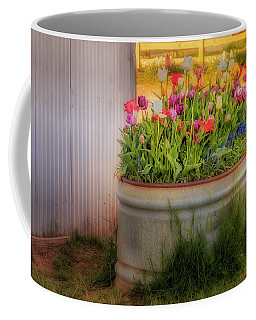 Coffee Mug featuring the photograph Bunch Of Tulips by Susan Candelario