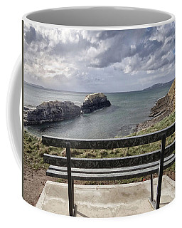 Bundoran - View Over The Diving Platform At Rougey Rocks Coffee Mug