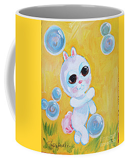 Bunny And The Bubbles Painting For Children Coffee Mug