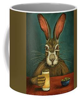 Bunny Hops Coffee Mug by Leah Saulnier The Painting Maniac