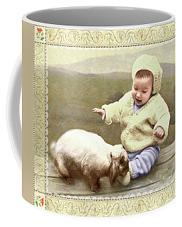 Bunny Nuzzles Baby's Toes Coffee Mug