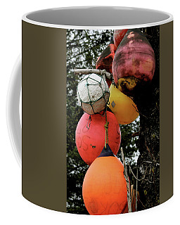 Coffee Mug featuring the photograph Buoy Decorated Tree by Brandy Little