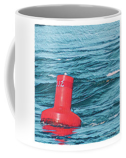 Coffee Mug featuring the photograph Buoy In The Rip by Art MacKay
