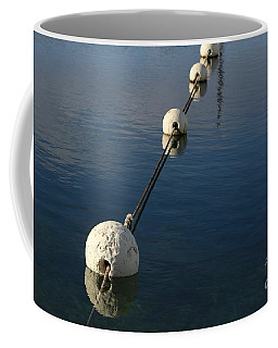 Coffee Mug featuring the photograph Buoys In Aligtnment by Stephen Mitchell