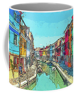 Burano Sketch Coffee Mug
