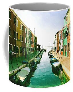 Coffee Mug featuring the digital art Burano Venice by Kai Saarto