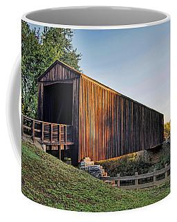 Coffee Mug featuring the photograph Burfordville Covered Bridge by Cricket Hackmann