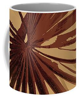 Burgundy And Coffee Tropical Beach Palm Vector Coffee Mug