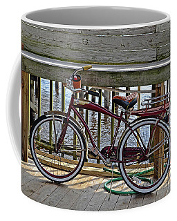 Burgundy Bicycle Coffee Mug