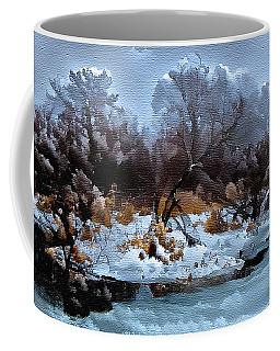 Burgundy Blues Coffee Mug