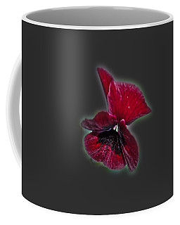 Coffee Mug featuring the photograph Burgundy Pansy  Tee-shirt by Donna Brown