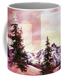 Burgundy Sunrise Coffee Mug