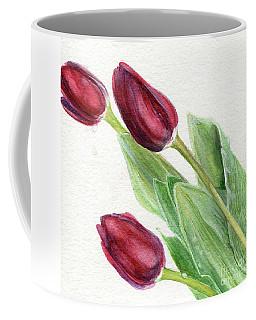 Burgundy Tulips Coffee Mug
