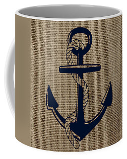 Burlap Anchor Coffee Mug
