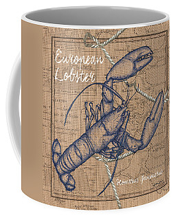 Burlap Lobster Coffee Mug