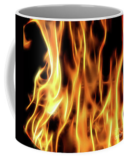 Burning Flames Fractal Coffee Mug
