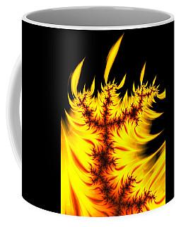 Burning Fractal Flames Warm Yellow And Orange Coffee Mug