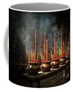 Burning Incense Coffee Mug