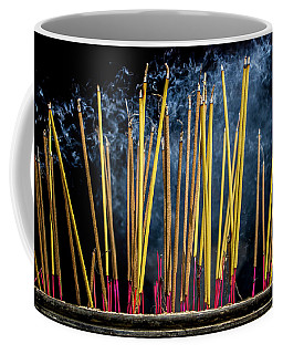 Burning Joss Sticks Coffee Mug by Hitendra SINKAR