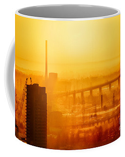 Burning Sunset Through Smog Coffee Mug